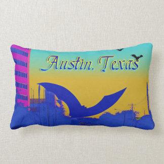 Austin's Bat Sculpture in Neon Pink Pillow