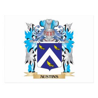 Austins Coat Of Arms Postcard