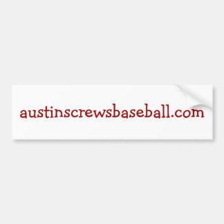 austinscrewsbaseball.com pegatina para auto