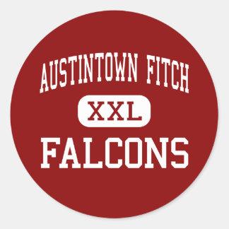 Austintown Fitch - Falcons - alto - Austintown Pegatina Redonda