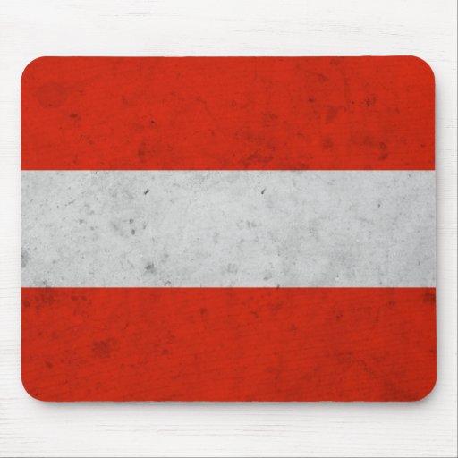Austra Grunge Flag Mouse Pad