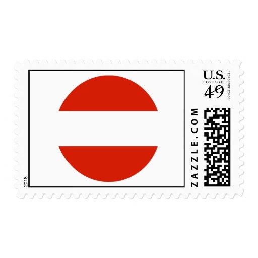 Austra Round Flag Postage Stamp