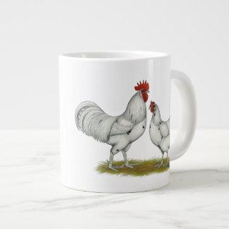 Austra White Chickens Giant Coffee Mug