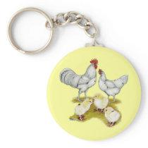 Austra White Family Keychain