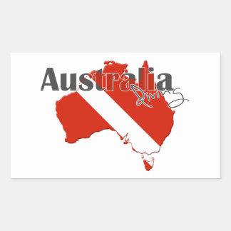 Austrailia Scuba Diving Rectangle Stickers