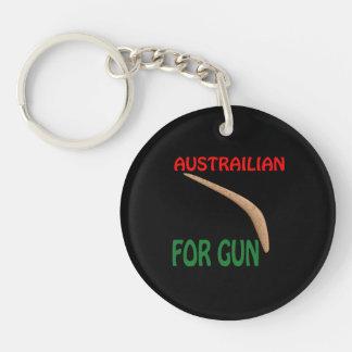 Austrailian For Gun Keychain