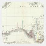 Austral-Continente Pegatina Cuadrada