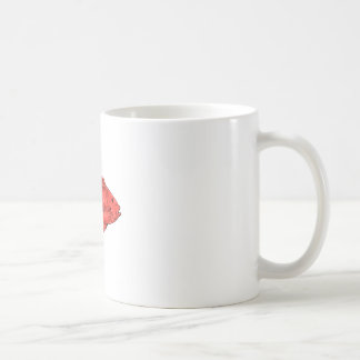 Australasian Snapper Swimming Drawing Coffee Mug
