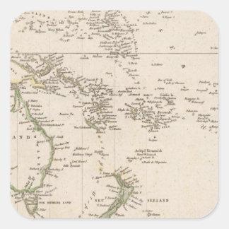 Australia 10 square sticker