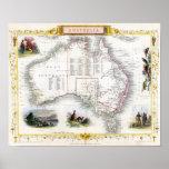 Australia 1851 Map Print