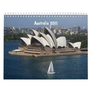 Australia 2011 calendarios de pared