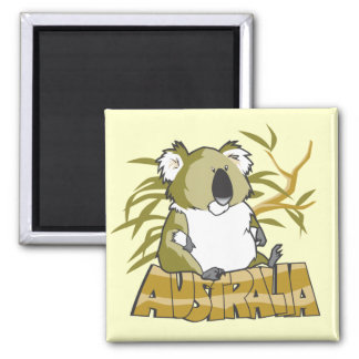 Australia 2 Inch Square Magnet