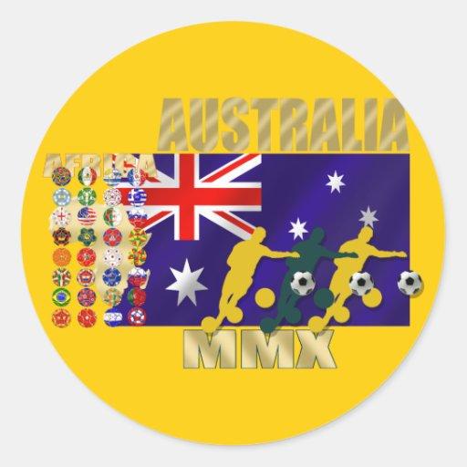 Australia 32 regalos calificados de las ilustracio pegatinas redondas