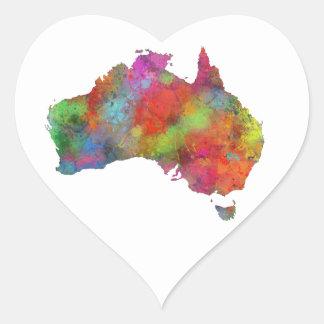 AUSTRALIA 4 PEGATINA EN FORMA DE CORAZÓN