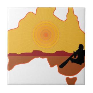 Australia aborigen azulejo cerámica