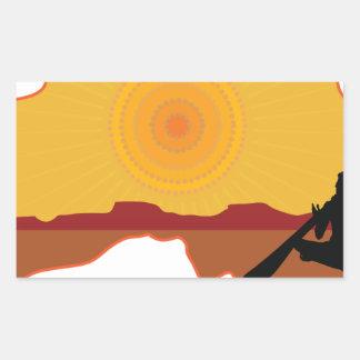 Australia aborigen rectangular pegatina
