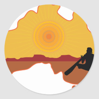 Australia aborigen pegatina redonda