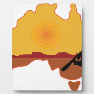 Australia aborigen placas con fotos