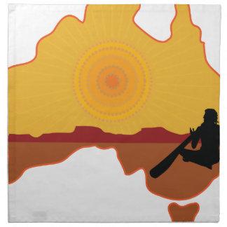 Australia Aboriginal Cloth Napkin