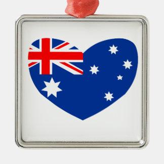 Australia Adorno Navideño Cuadrado De Metal