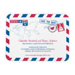 Australia Air Mail Wedding Save the Date sz 3x4 Rectangular Photo Magnet