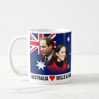 Australia ama la taza de Guillermo y de Kate
