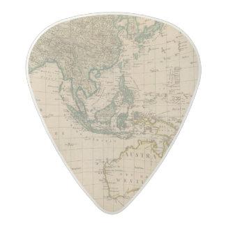 Australia and Asia Acetal Guitar Pick