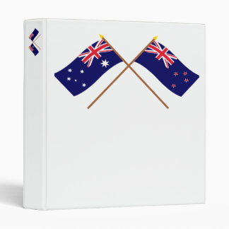 Australia and New Zealand Crossed Flags Binder
