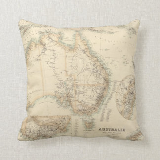 Australia and New Zealand Throw Pillow