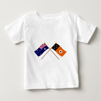 Australia and Northern Territory Crossed Flags Baby T-Shirt