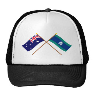 Australia and Torres Strait Islands Crossed Flags Hats