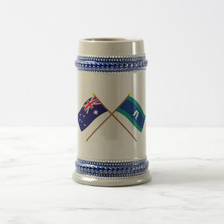 Australia and Torres Strait Islands Crossed Flags Coffee Mugs