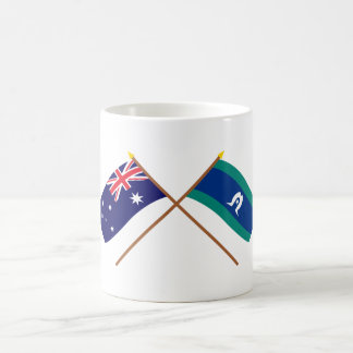 Australia and Torres Strait Islands Crossed Flags Mugs