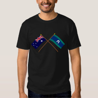 Australia and Torres Strait Islands Crossed Flags T-shirt