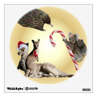 Australia Animals Christmas Wall Sticker
