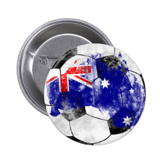 Australia apenó fútbol pin redondo de 2 pulgadas