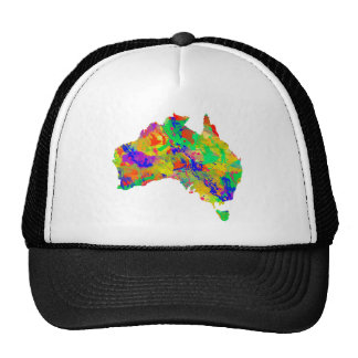Australia Art Map Hat