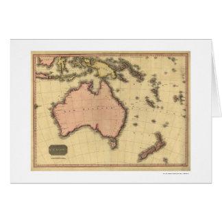 Australia Asia Map By John Pinkerton 1818 Greeting Card