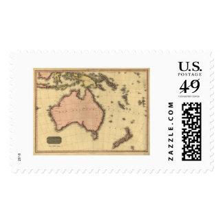 Australia Asia Map By John Pinkerton 1818 Stamp