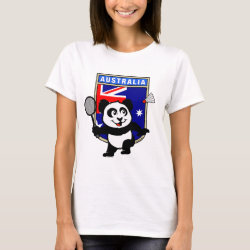 Women's Basic T-Shirt with Australia Badminton Panda design