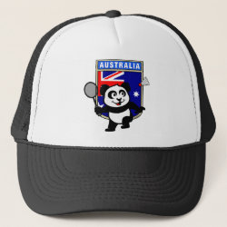 Trucker Hat with Australia Badminton Panda design