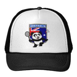Trucker Hat with Australia Badminton Panda design