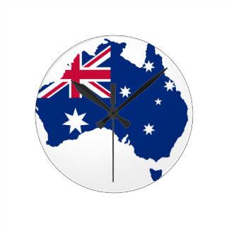 Australia bandera Australia Style diseño Reloj Redondo Mediano