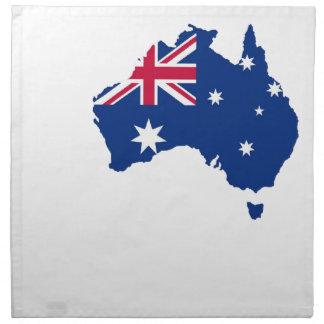 Australia bandera Australia Style diseño Servilleta Imprimida