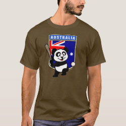 Men's Basic Dark T-Shirt with Australia Baseball Panda design