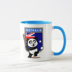 Combo Mug with Australia Baseball Panda design