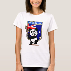 Women's Basic T-Shirt with Australia Baseball Panda design