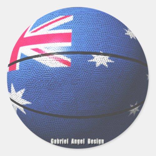 Australia Basketball Classic Round Sticker