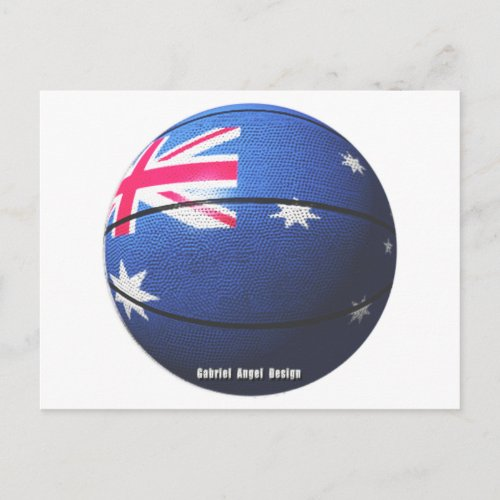 Australia Basketball Postcard