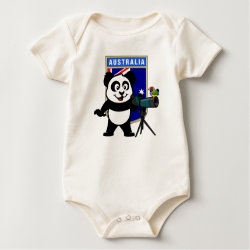 Infant Organic Creeper with Australian Birding Panda design